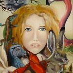 Alice au pays des merveilles (33 X 45 cm) 1975. Christine de Hédouville