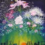 Bouquet d'anniversaire (5 X 61 cm) 1996. Christine de Hédouville