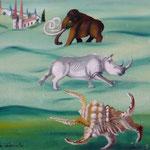 Les mystères de la reproduction (40 X 30 cm) 1992. Christine de Hédouville