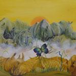 Dialogue de sourds (61 X 50 cm) 1997 Christine de Hédouville