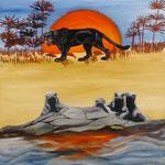 Comme chien et chat (50 X 40 cm) 2004. Christine de Hédouville