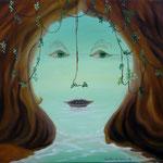 L'incertitude qui vient des rêves (53,5 X 64 cm) 1993. Christine de Hédouville