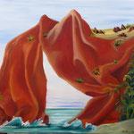 L'île de Fatu Hiva (59 X 73 cm) 1995. Christine de Hédouville