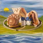 Achetez-vous une île (54 X 45 cm) 2004. Christine de Hédouville