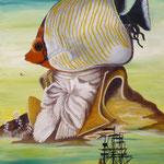 L'île de Bougainville (55 X 38 cm) 2000. Christine de Hédouville