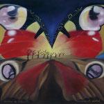 Crépuscule austral (45 X 36 cm) 1989 ou 1990. Christine de Hédouville