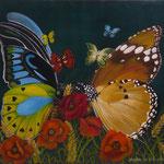 Quarante ans de mariage, noces de fleurs (46 X 55 cm) 2001. Christine de Hédouville