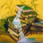 Les sources du savoir (55 X 46 cm) 2002. Christine de Hédouville
