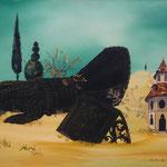Le Tombeau du Chevalier Noir (62 X 47 cm) 1975. Christine de Hédouville