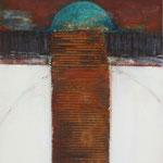 PHARE IV, Oxidation, Acryl, Kreide auf Holz, 50 x40 cm, 2013