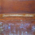 MARÉE BASSE II, Oxidation, Acryl, Pigmente auf Einsenplatte, 2015