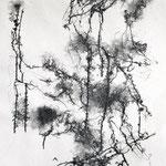 L'ESPRIT DU SILENCE, 2017 – Encre de chine auf Papier, 70 x 50cm  (700 € ohne Versand)