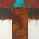 PHARE III, Oxidation, Acryl, Kreide auf Holz, 50 x40 cm, 2013