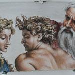 Fresco nach Michelangelo 2014, 40 x 60cm