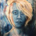 Selbstporträt 2017, Öl auf Leinwand, 70 x 50 cm
