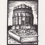 Exlibris 2014, Holzstich 8,5 x 12,5 cm