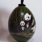 Dschungel 2014, Aquarell auf Ei