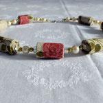 """KE1365, 48 cm, € 23,50 """"Rose in Leine"""" mit Perle"""