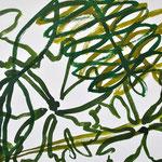 «Tanzender Falke»  Tusche auf Leinwand 189x100cm verkauft