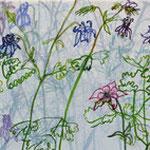 «Bärgblueme» IV 2012 20x80cm, verkauft