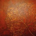 Calling the 4 Directions - South - Acryl, Oel auf Leinwand 100x100cm verkauft