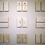 «Spiegelblüten» Mixed Media auf Papier 20x10 cm 2-teilig