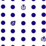 豆絞り(青)