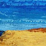 Rotes Kliff Kampen 28 x 92 Acryl auf Hartfaserplatte, ©Irene Ehlers 2013