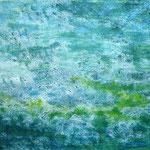 Blaugrün II 70 x 50 cm Acryl auf Papier ©Irene Ehlers 2017