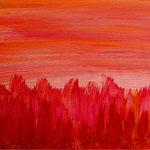 Heute war mir so rot 38 x 15,4 cm Acryl auf MDF-Platte, © Irene Ehlers 2014
