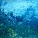 Blaugrün I_70 x 50 cm Acryl auf Papier © Irene Ehlers 2017