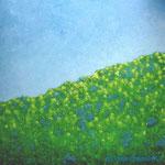 Frühlingswiese 80 x 80 x 3,6 cm Acryl auf Leinwand ©Irene Ehlers 2017