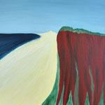 Rotes Kliff Kampen XII 50 x 40 cm Acryl auf Leinwand, ©Irene Ehlers 2014