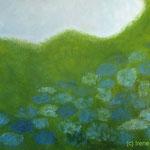 Blaugrün VIII 90 x 60 x 3,6 cm Acryl auf Leinwand ©Irene Ehlers 2017