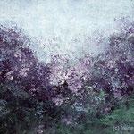 Blaulila I 60 x 40 cm Acryl auf Papier © Irene Ehlers 2017