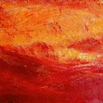 Heute Rot 25,1 x 20,2 cm Acryl auf Hartfaserplatte, © Irene Ehlers 2014