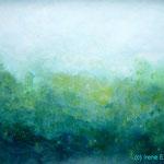 Blaugrün III 70 x 50 Acryl auf Papier ©Irene Ehlers 2017