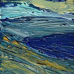 Am Meer VII 20 x 32 x 4 Arcyl auf Leinwand, ©Irene Ehlers 2014