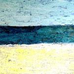 Am Meer Xa 60 x 40 x 2 cm Acryl und Mixed Media auf Leinwand, ©Irene Ehlers 2014