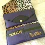 purple glitter vinyl wallet
