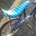 banana seat, light blue glitter vinyl