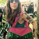 pink and green custom made bag for Yasmin