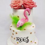 Flamingo taart, Roos, Taart Den Bosch