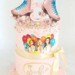 Rollerskating Cake, Sofie 5 jaar, Taart Den Bosch