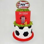 PSV taart voor 2 broertjes, Jaysen 4 jaar, Taart Den Bosch