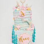 Little SeaMermaid cake, Maan 4 jaar, Taart Den Bosch