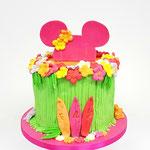 Tropical Minnie Mouse Cake, Jay, Taart Den Bosch