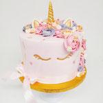 Unicorn gold and pink, Rozie 1 jaar, Taart Den Bosch