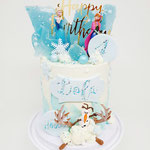 Frozen, extra High edition, Lola 4 jaar, Taart Den Bosch