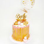 It's a Girl!, Golden babyshower Cake, Taart Den Bosch